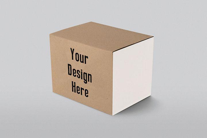 Branding Cardboard Box Mock-Up Mockup