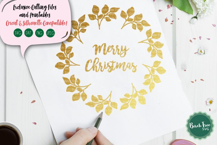 Merry Christmas Svg, Christmas Wreath Svg, Christmas Design