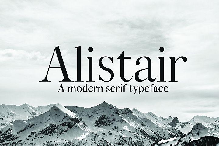 ALISTAIR FONT, A modern Serif