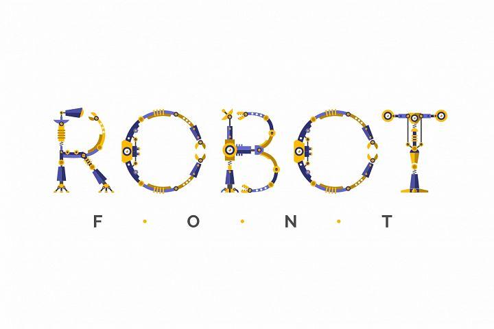 Robot font + Bonus Robots knights