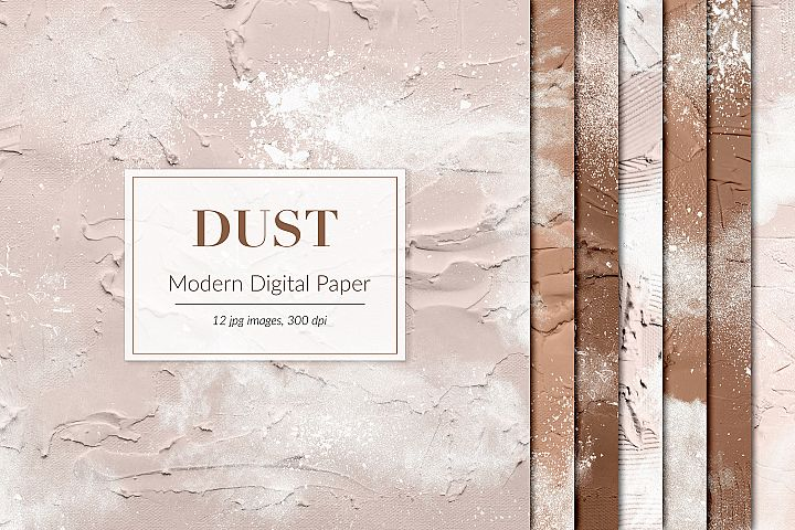 Dust Digital Paper, Abstract Paint Textures