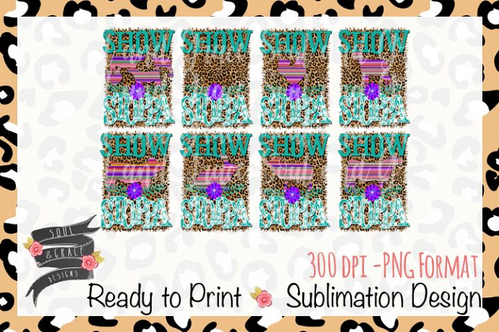 Show Stoppa Animals Set Sublimation Template