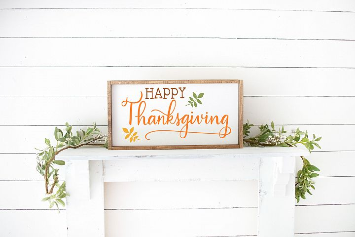 Thanksgiving SVG - Happy Thanksgiving example 1