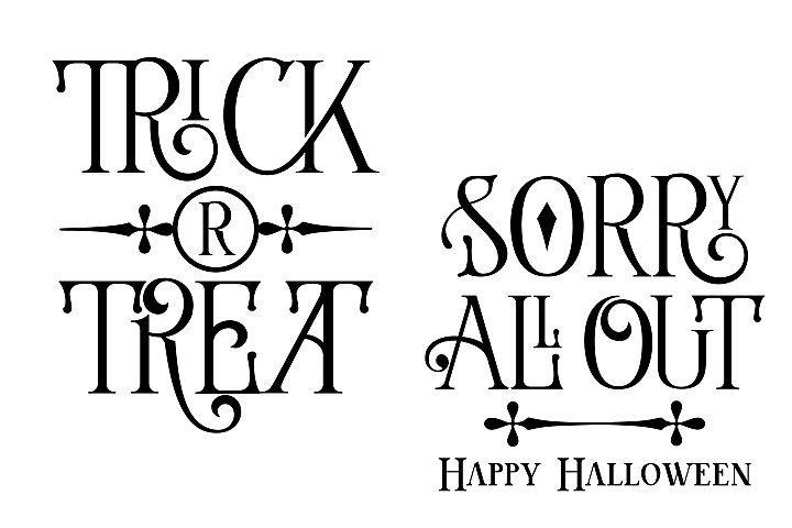 Trick or Treat - All Out - Halloween example 1