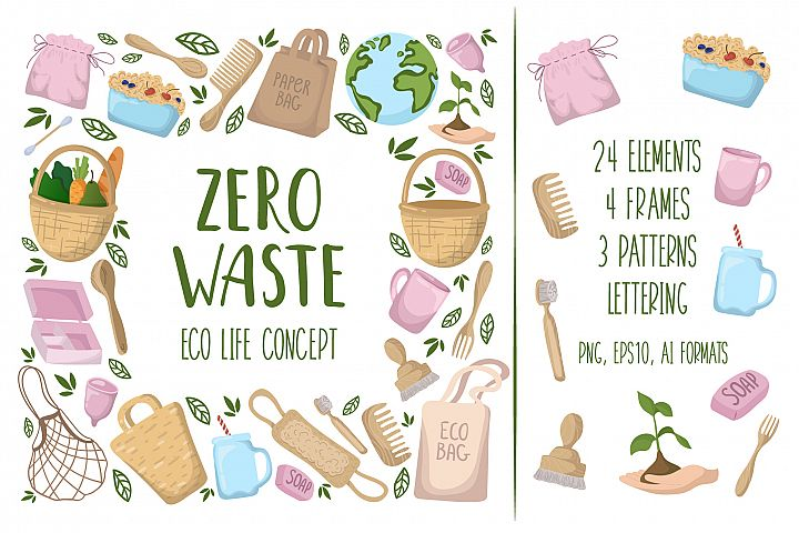 Zero Waste - Vector Collection