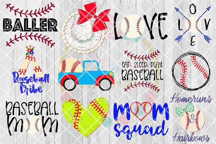 Baseball/Softball SVG Bundle V.1 - 12 Designs SVG DXF PNG