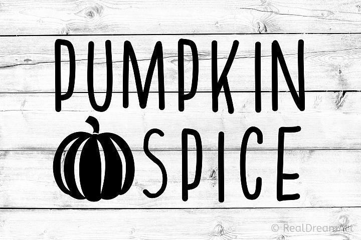 Pumpkin Spice SVG, DXF, PNG, EPS