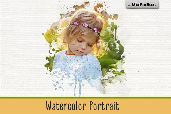 Watercolor Portrait Photo Masks
