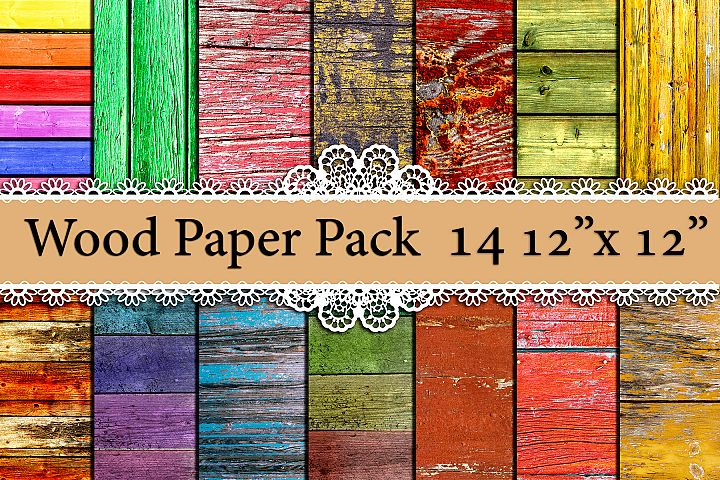 Wood digital paper pack