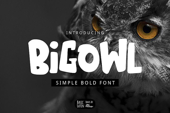 Big Owl Font