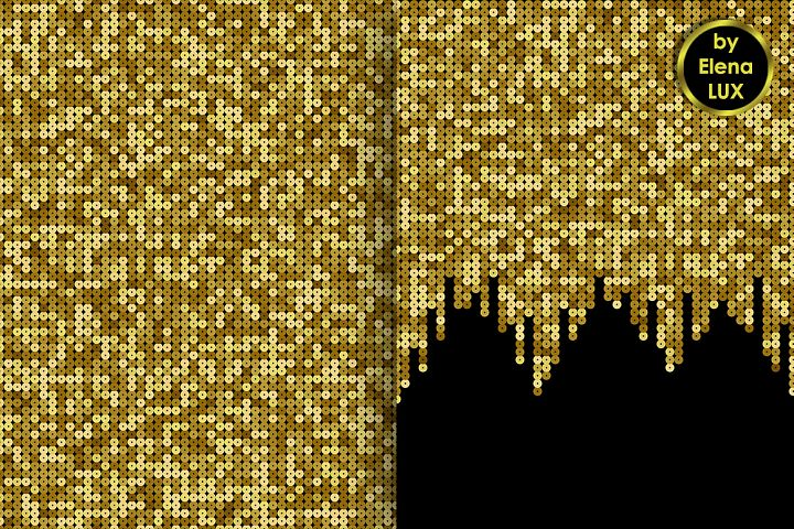 Gold Sequins Seamless Set