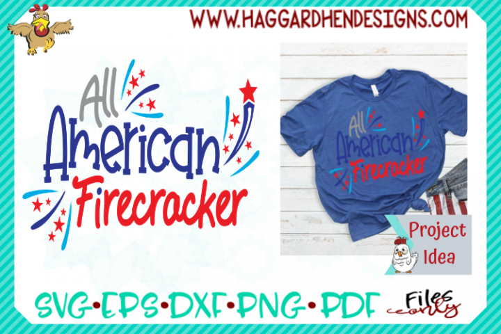 All American Firecracker SVG