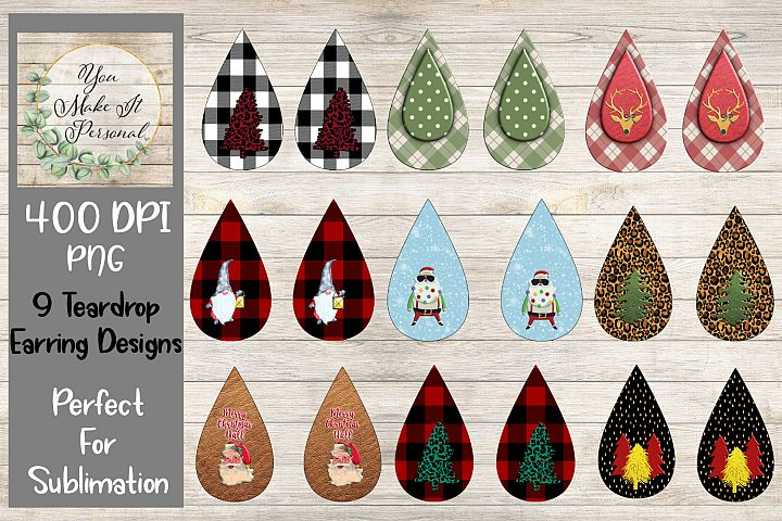 Teardrop Earring Bundle, Perfect for Sublimation