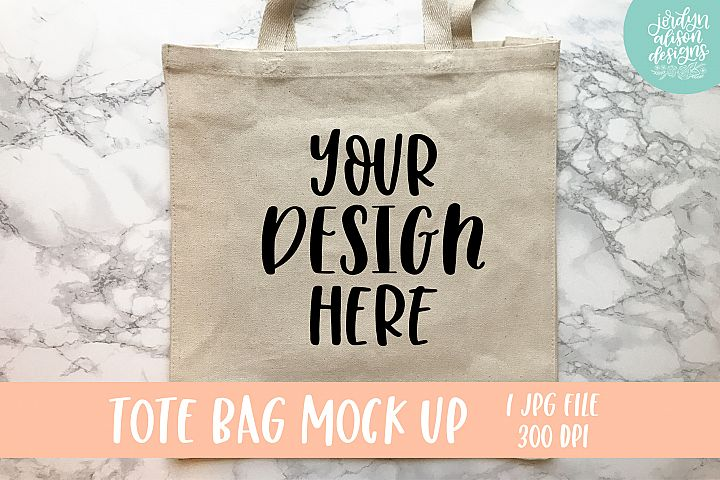 Tan Tote Bag Mockup example