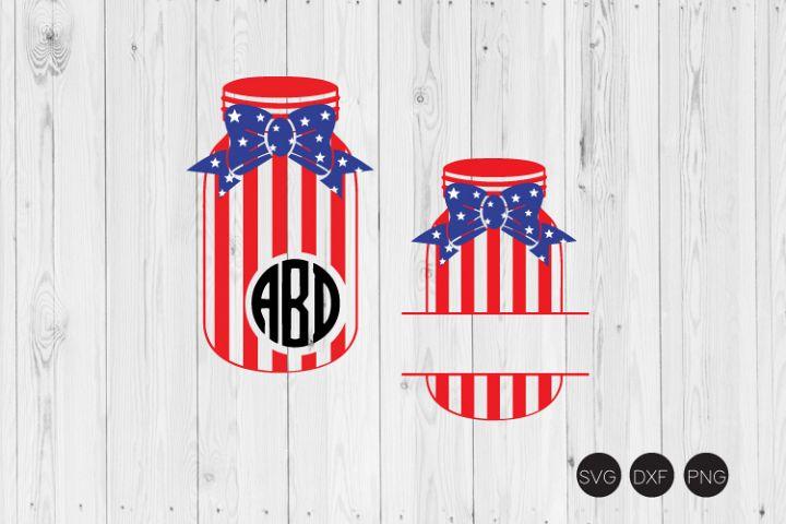 Fourth of July Mason Jar SVG