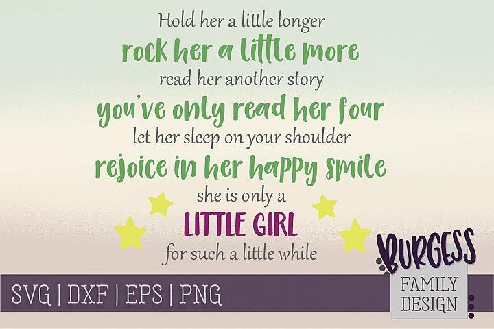 Hold her a litte longer Nursery | SVG DXF EPS PNG