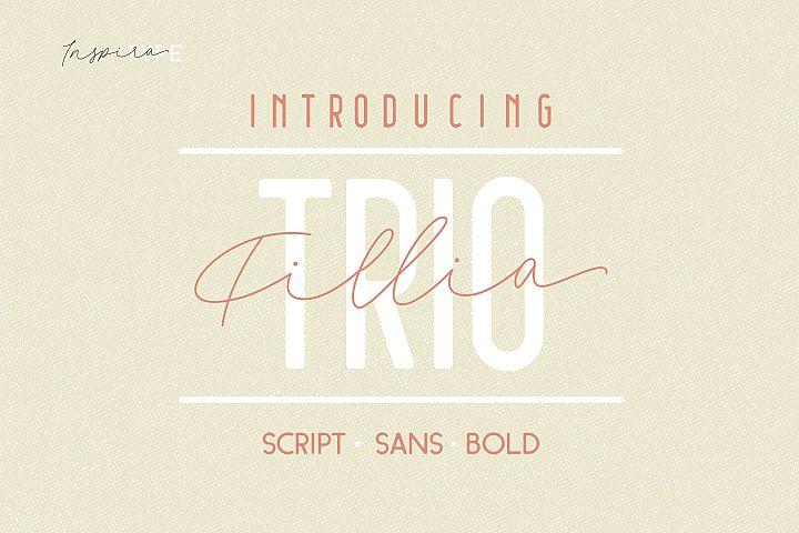 Filia Trio - Script, Sans, and Bold
