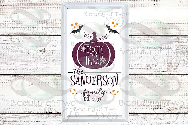 Last Name customize wreath svg sign design, Halloween svg