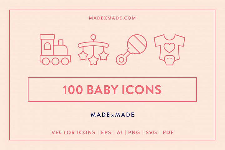 Line Icons - Baby