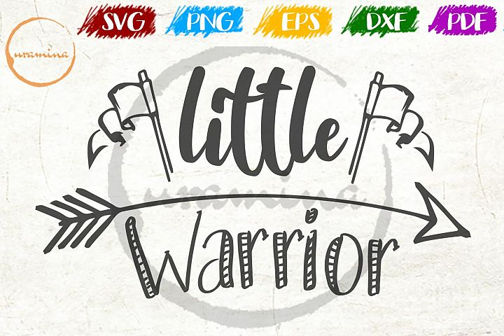 Little Warrior Kids Room SVG PDF PNG