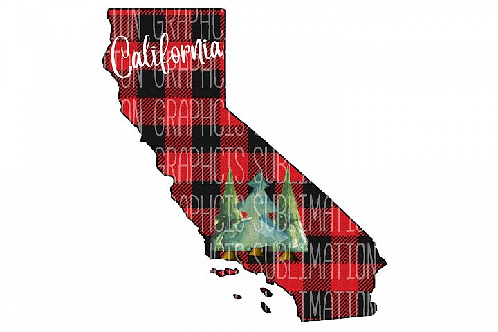 California Plaid Sublimation Digital Download
