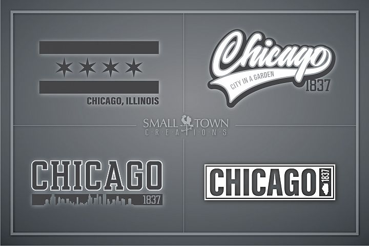 Chicago, City in a Garden - slogan, PRINT, CUT & DESIGN