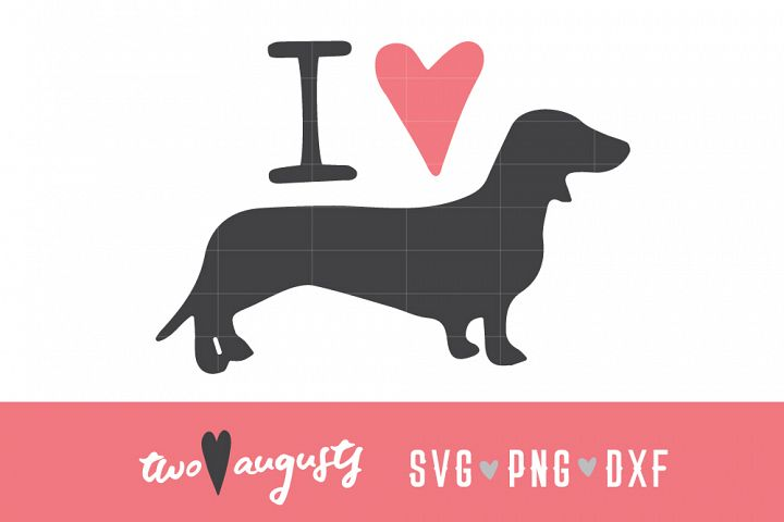 I heart Dachshunds \\ Doxie, SVG, PNG, DXF, love, dogs, dog