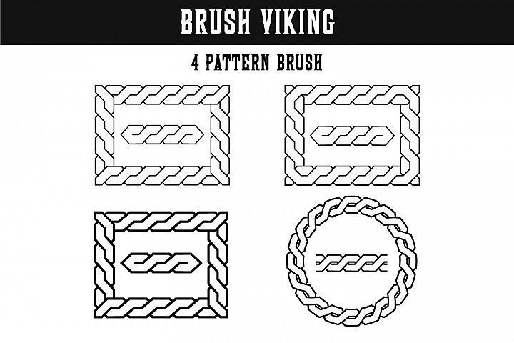 Pattern Brush Viking braid Illustrator