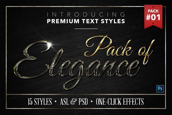 Elegance #1 - 15 Text Styles
