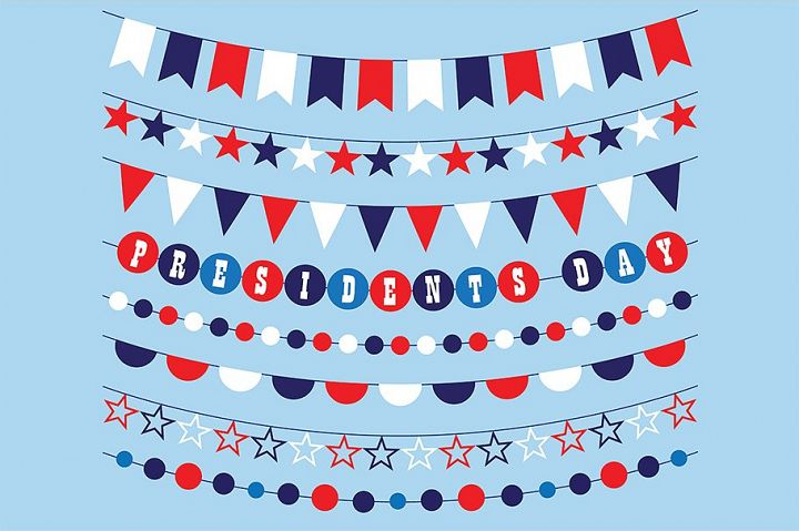 Presidents Day Bunting Clipart
