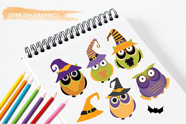 Halloween Owls graphics and illustrations - Free Design of The Week Design 2