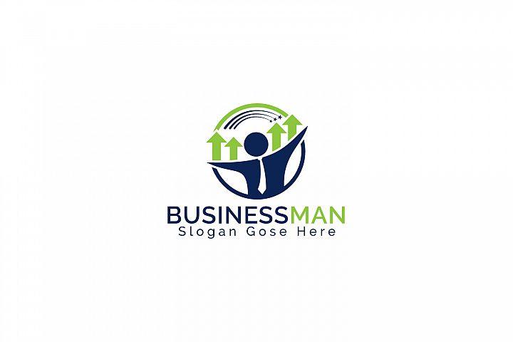 Businessman Logo Design.