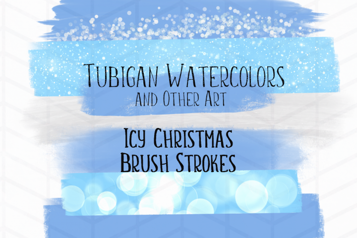 8 Brush Strokes for an Icy Christmas Theme