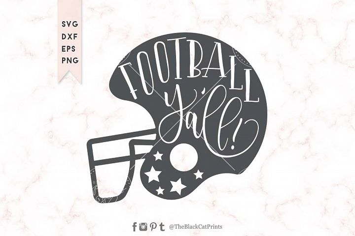 Football Yall helmet SVG DXF EPS PNG
