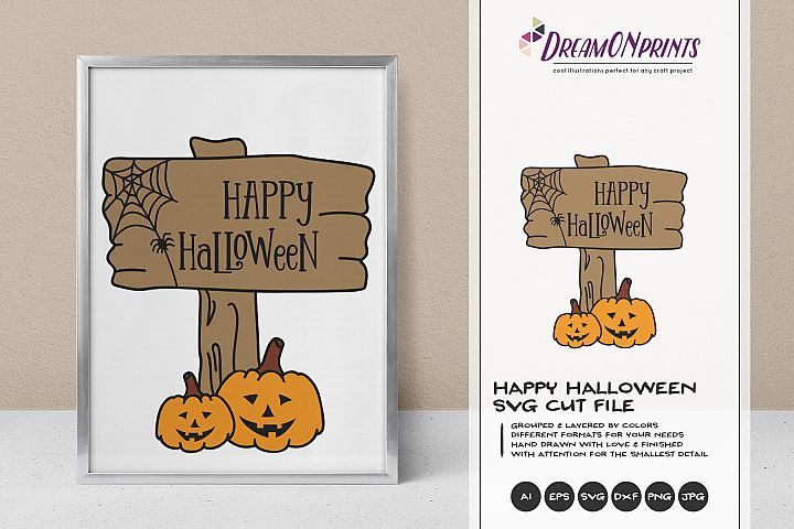 Happy Halloween | Jack O Lantern SVG Cut File