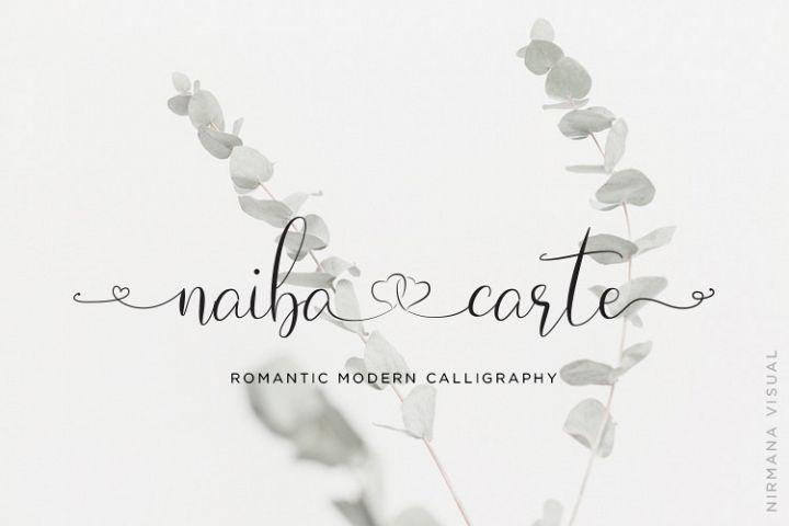 Naibacarte - Lovely Font