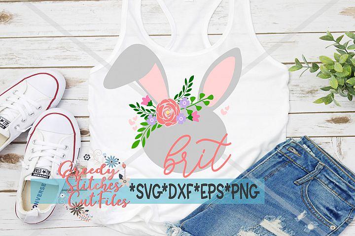 Easter | Floral Easter Bunny SVG, DXF, EPS, PNG.