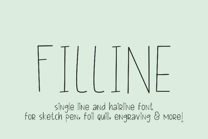 FILLINE Single line and hair line fonts