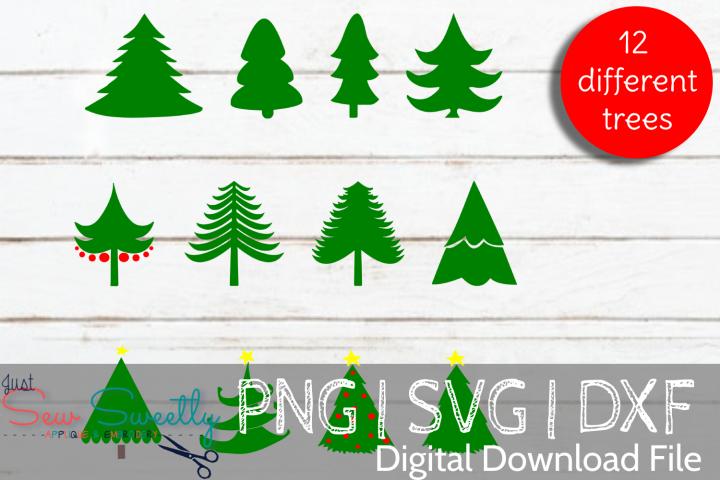 Christmas Trees Bundle SVG Cut File