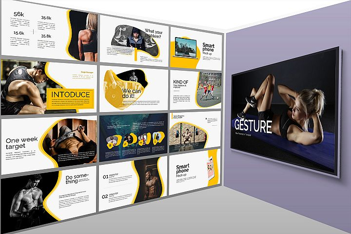 Gesture Athletics Google Slides Presentation