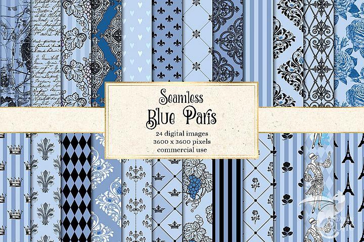 Blue Paris Digital Paper