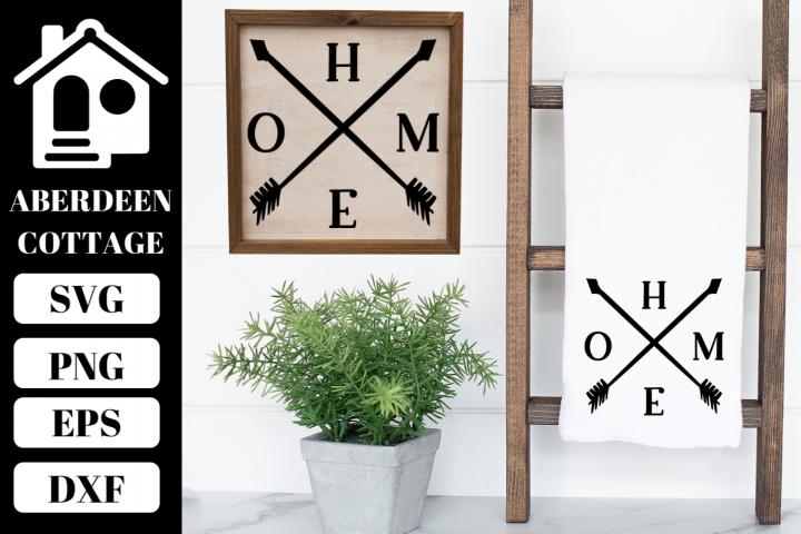 Home Arrow Design SVG