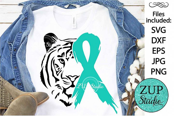 Tiger Face with Ribbon svg design 477