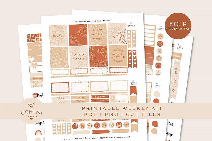 Printable Horizontal Planner Stickers Weekly Kit for EC 2020
