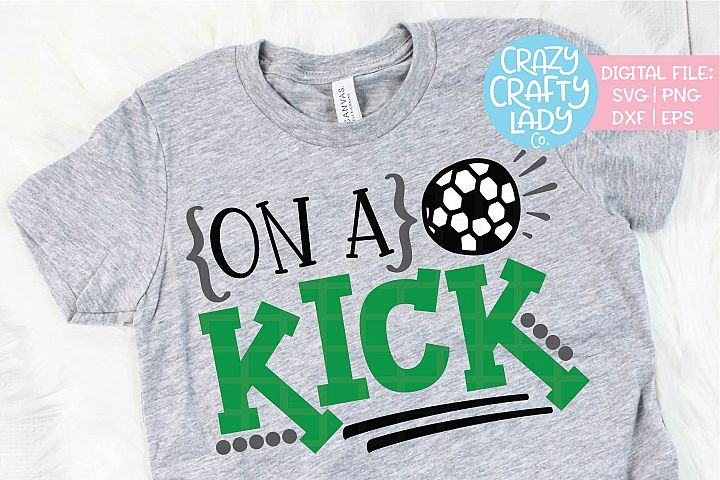 On a Kick Soccer SVG DXF EPS PNG Cut File