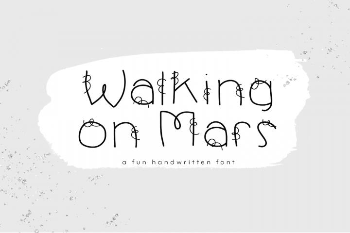 Walking on Mars - A Fun Handwritten Font