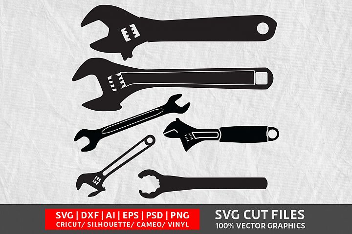 Wrench Vol 1 SVG Cut File