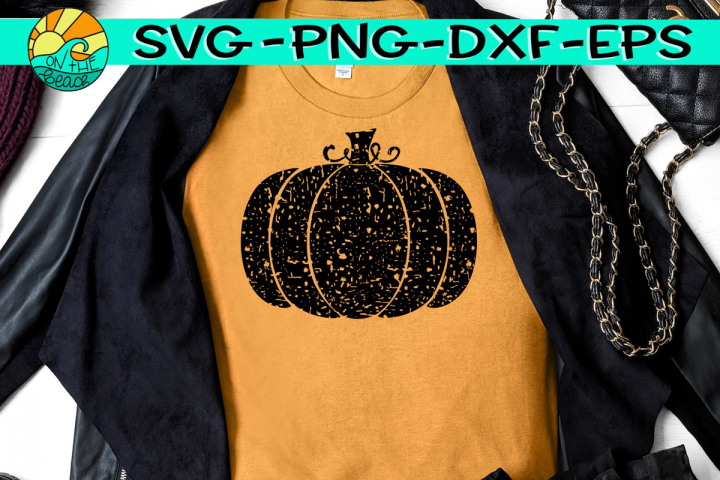 Pumpkin - Grunge - Distressed - SVG PNG EPS DXF