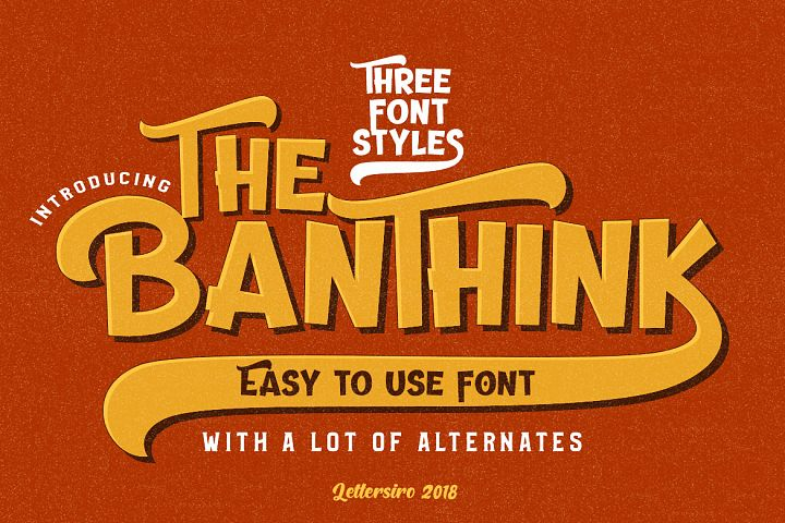The Banthink - Retro Font