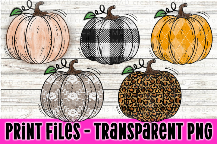 Pumpkin Bundle - Fall Bundle - Print Files Clipart